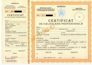 certificat calificare profesionala scoala de cosmetica